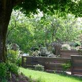 Un apperçu des terrasses privées des gites.