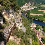 Une vue exceptionnelle sur la Roque Gageac et la Dordogne.