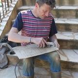 Enfin, création des panneaux en bois de nos gites : Le Pigeonnier, Le Tillou, La Bichonnière et La Prairie... Un vrai moment de plaisir
