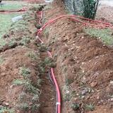 Pas moins de 3000 mètres de cables enterrés