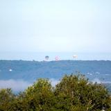 Du domaine, nous voyons les montgolfières s'élever.