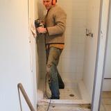 """Rénovation d'une salle de douche dans le gite """"La Prairie""""."""
