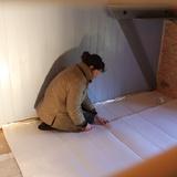 Rénovation de la grande chambre de notre grand gite.