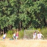 Les jeunes se sont bien amusés au domaine.