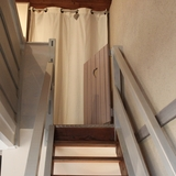 Portillon en haut de l'escalier