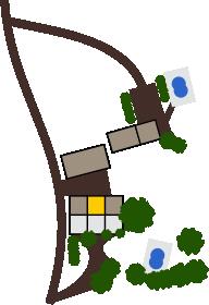 Localisation du gîte La Bichonnière sur le domaine